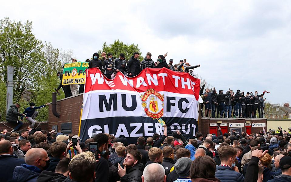 The Glazers were targeted by massive protests towards the end of last season - PA