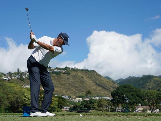 Matt Kuchar in action on the seventh hole (Getty Images)
