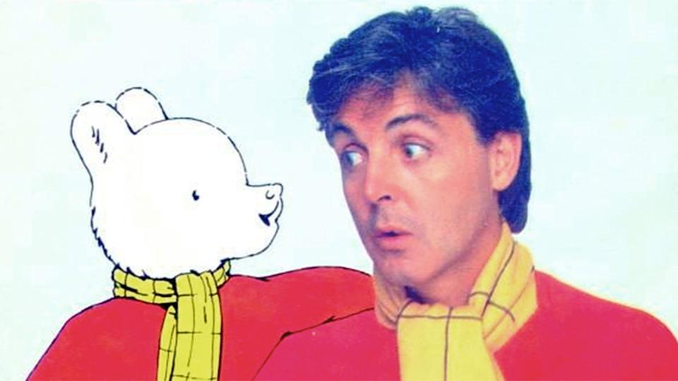 '<i>We All Stand Together</i>' from the animated film <i>Rupert and the Frog Song</i> and reached number three in the UK Singles Chart in 1984. (Parlophone)
