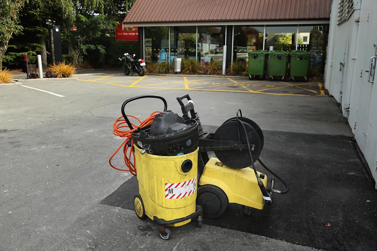 CHRISTCHURCH, NEW ZEALAND - MARCH 28:  A water blaster sits in Merivale McDonalds on Papanui Road, where Jesse Ryder was found by police in the drive through early on March 28, 2013 in Christchurch, New Zealand.  (Photo by Joseph Johnson/Getty Images)