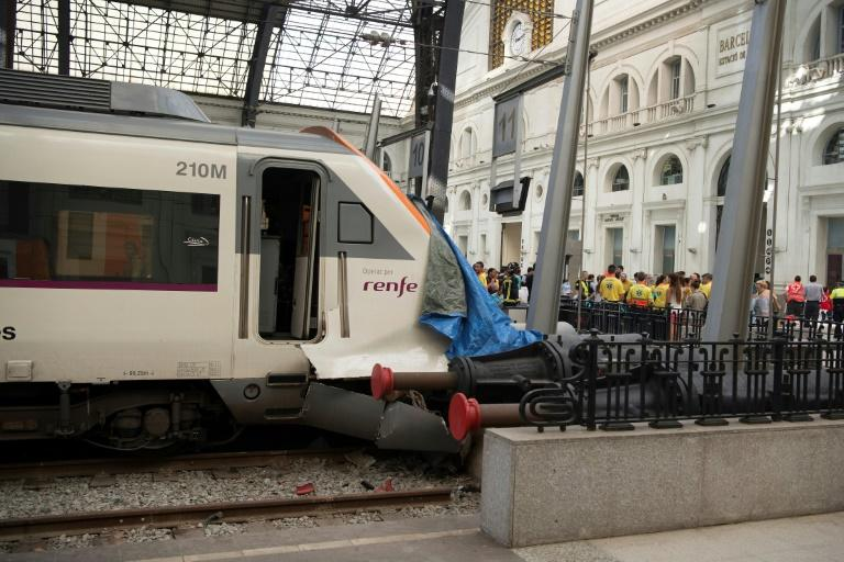 Barcelona's Francia station train crash injures forty eight people