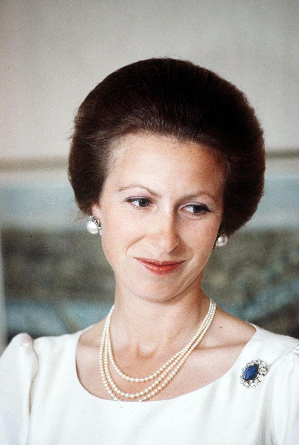 <p>The exact provenance of Princess Anne's sapphire brooch isn't clear. Some believe that when creating that aforementioned famous brooch for Queen Victoria, Prince Albert made replicas for their daughters. Others believe that only one copy was made for the queen herself. Either way, the piece found its way to Queen Elizabeth's only daughter. </p>