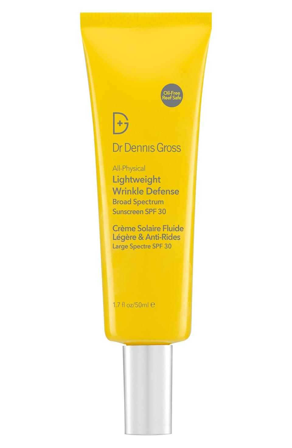 <p>If you suffer from hyperpigmentation and sun spots, this <span>Dr. Dennis Gross Skincare All-Physical Lightweight Wrinkle Defense Broad Spectrum Sunscreen SPF 30</span> ($42) is going to be your new best friend.</p>