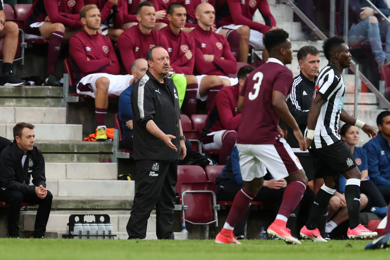 Soccer Football - Heart of Midlothian vs Newcastle United - Pre Season Friendly - Edinburgh, Britain - July 14, 2017   Newcastle United manager Rafael Benitez   Action Images via Reuters/John Clifton