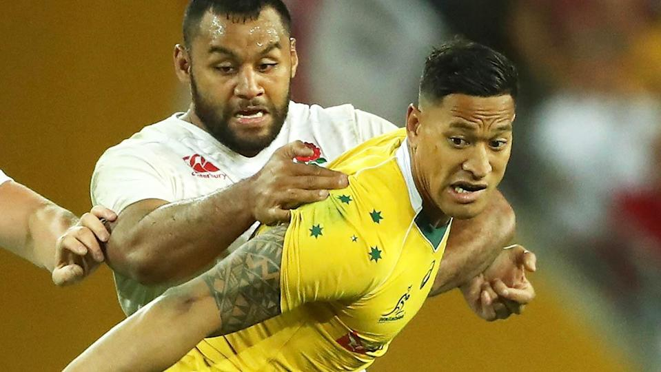Israel Folau in action for the Wallabies. (Photo by David Rogers/Getty Images)