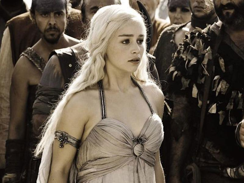 Emilia Clarke as Daenerys Targaryen in 'Game of Thrones'HBO