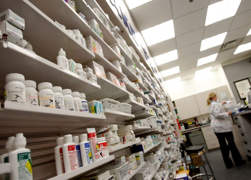 FILE PHOTO: A pharmacist works at a pharmacy in Toronto
