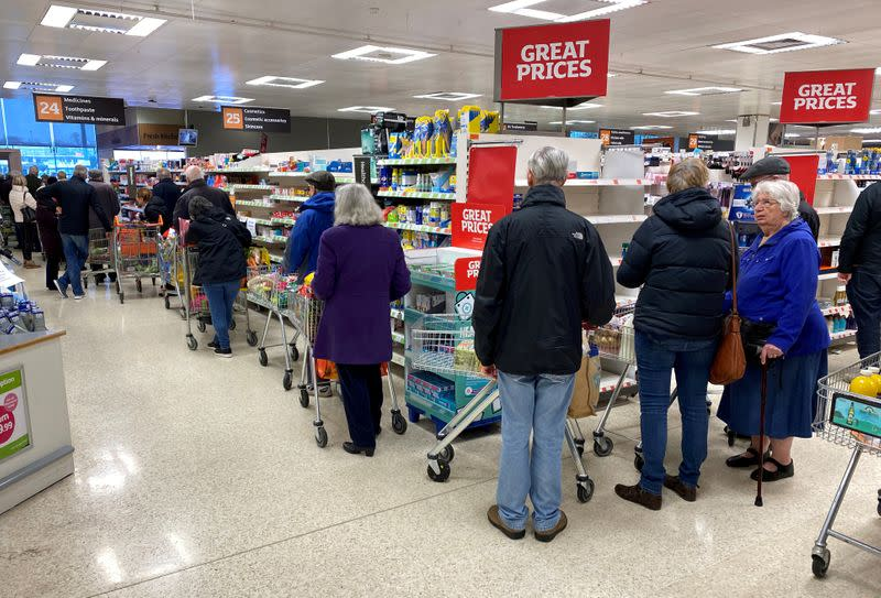 Britain's supermarkets wrestle with coronavirus demand conundrum
