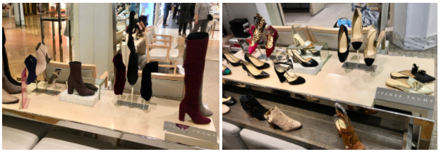 Ivanka Trump shoe displays at Macy's in Herald Square, NYC (Melody Hahm)