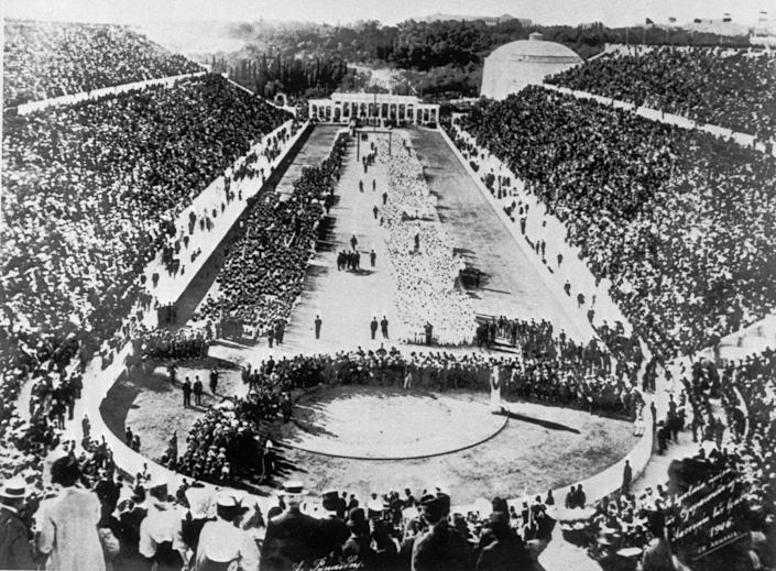 """<p>The tradition of the Olympics opening and closing ceremonies date back to ancient Greece. Since the first modern Olympics took place in 1896, the host country has replicated these ceremonies, but over time their <a href=""""https://olympics.com/ioc/faq/games-ceremonies-and-protocol/how-do-the-olympic-games-opening-and-closing-ceremonies-take-place"""" rel=""""nofollow noopener"""" target=""""_blank"""" data-ylk=""""slk:traditions have evolved"""" class=""""link rapid-noclick-resp"""">traditions have evolved</a>. </p>"""