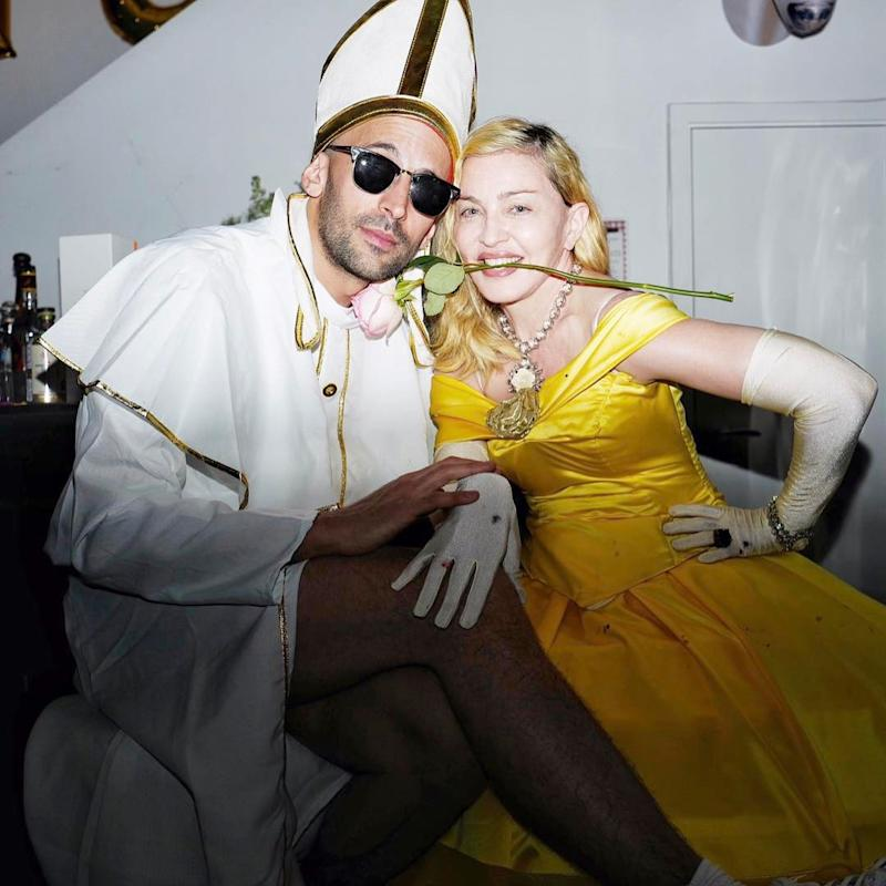 Madonna Dresses Up as Beauty and the Beast to Celebrate Purim in London