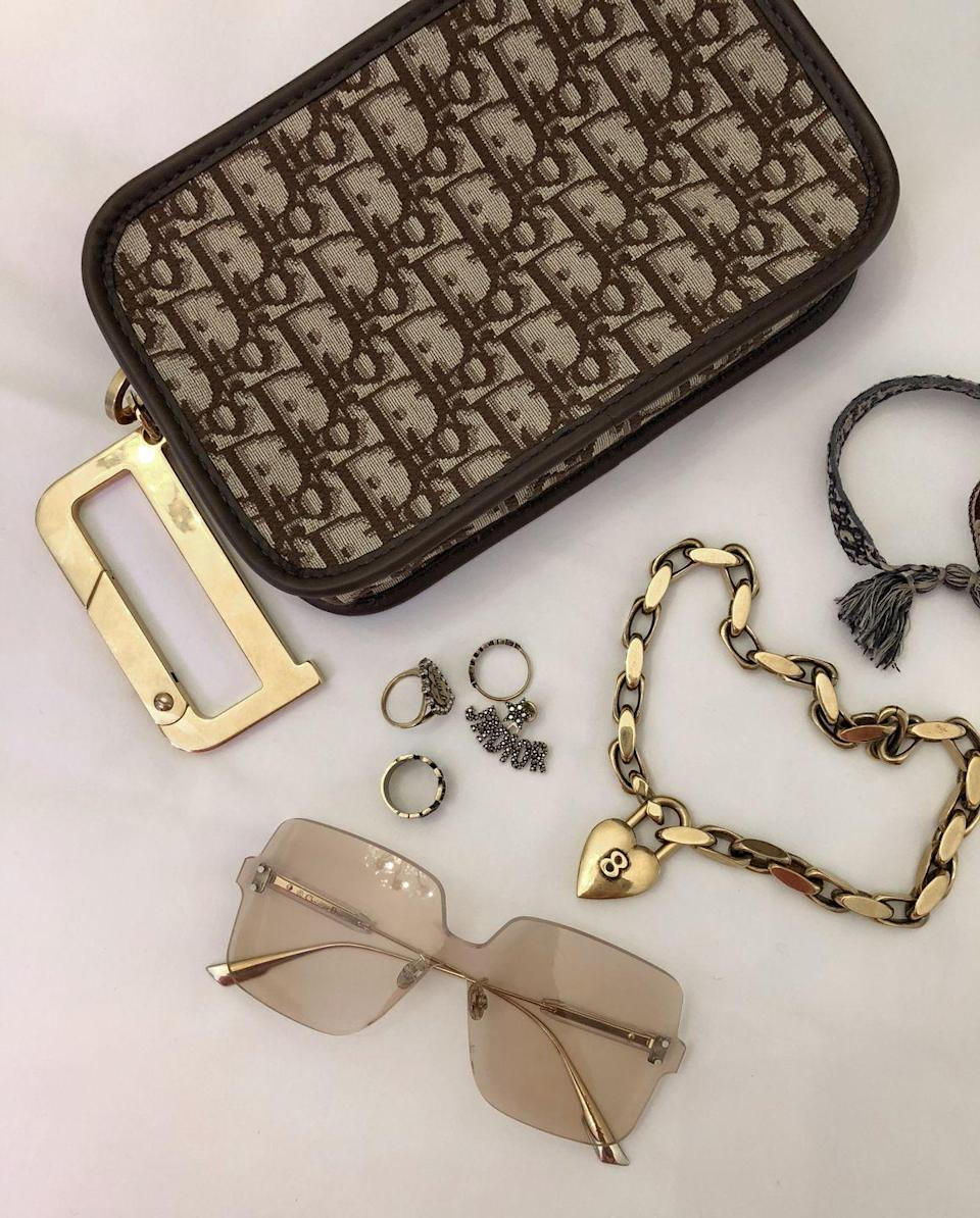 """<p>""""Dior accessories! So much love for the new color quake sunnies.""""</p>"""