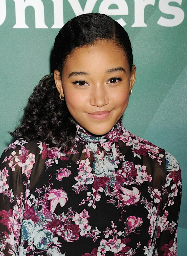 <p>Amandla Stenberg attends the 2015 NBCUniversal summer press day held at the the Langham Huntington Hotel and Spa on April 02, 2015, in Pasadena, Calif.(Photo: Jeffrey Mayer/WireImage) </p>