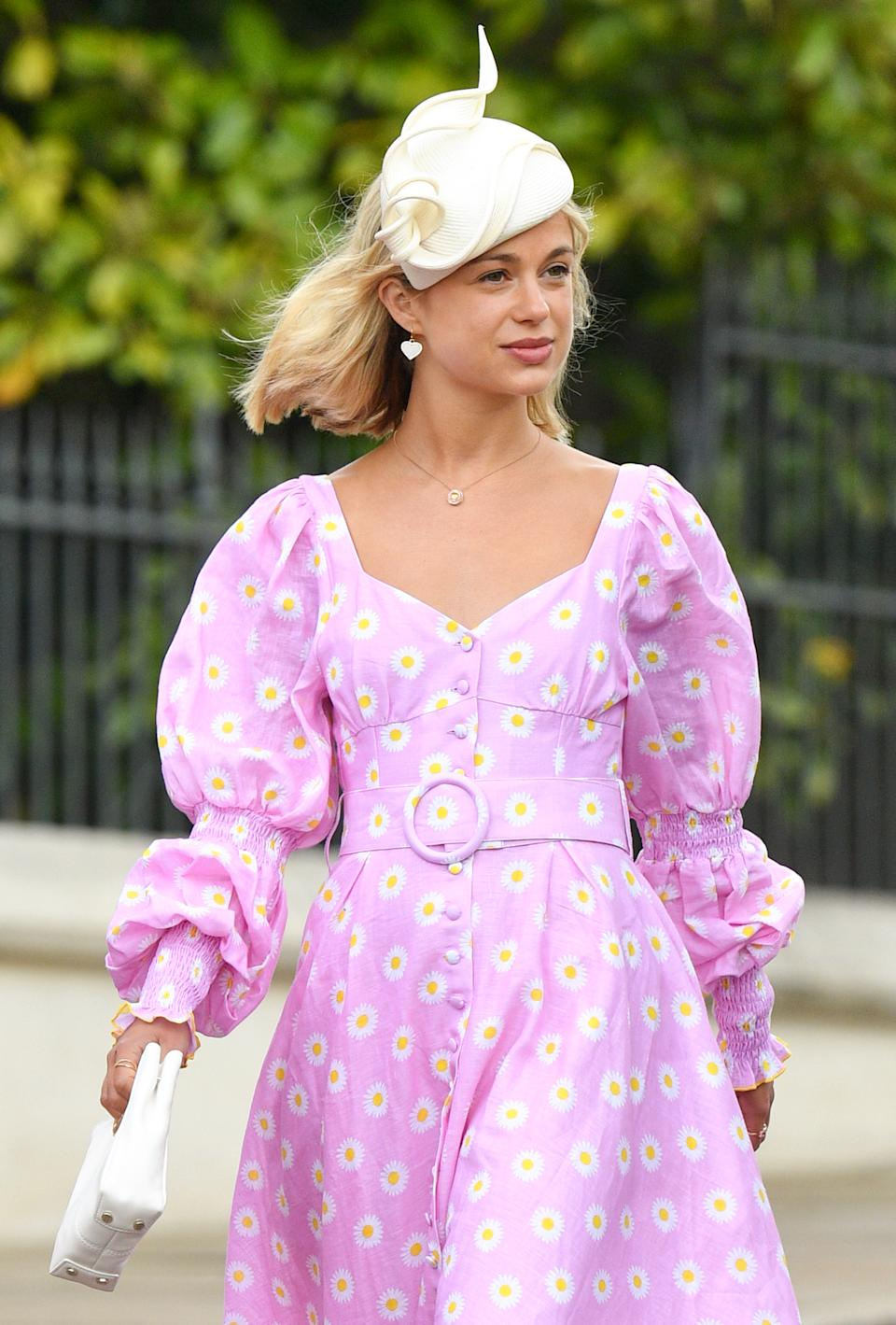 WINDSOR, UNITED KINGDOM - MAY 18: (EMBARGOED FOR PUBLICATION IN UK NEWSPAPERS UNTIL 24 HOURS AFTER CREATE DATE AND TIME) Lady Amelia Windsor attends the wedding of Lady Gabriella Windsor and Thomas Kingston at St George's Chapel on May 18, 2019 in Windsor, England. (Photo by Pool/Max Mumby/Getty Images)
