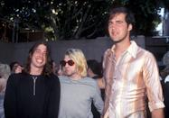 <p>Dave Grohl, Kurt Cobain and Krist Novoselic of Nirvana attend the 10th Annual MTV Video Music Awards in Universal City, CA.</p>
