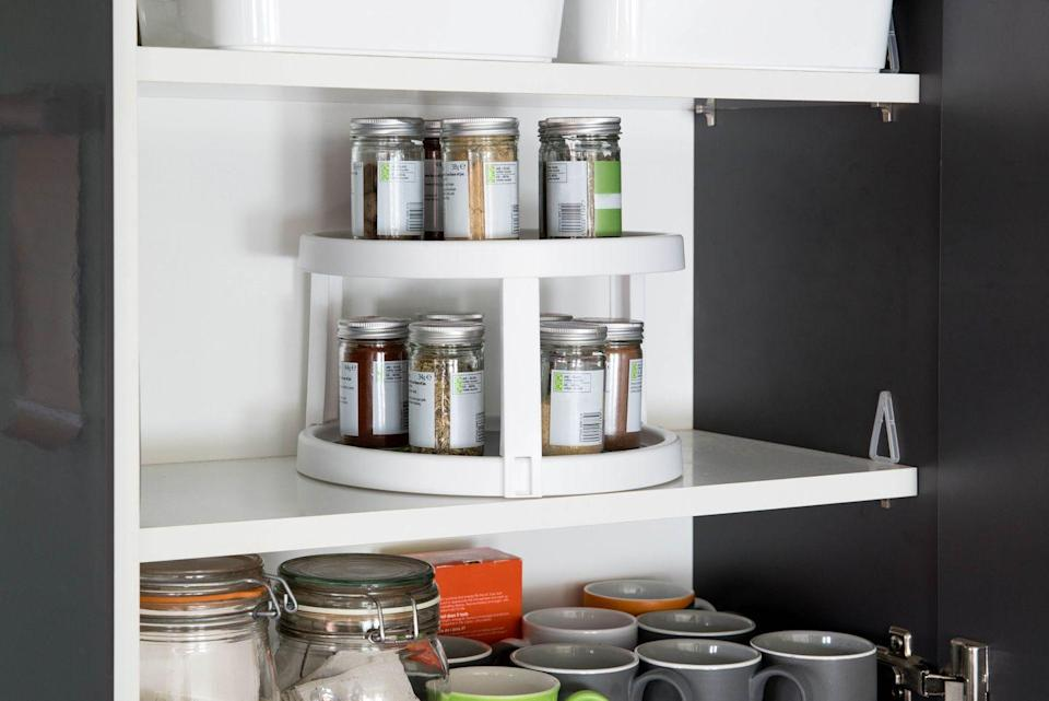 """<p>This simple <a href=""""https://www.housebeautiful.com/uk/decorate/kitchen/a29114595/kitchen-cupboard-storage-ideas/"""" rel=""""nofollow noopener"""" target=""""_blank"""" data-ylk=""""slk:kitchen storage"""" class=""""link rapid-noclick-resp"""">kitchen storage</a> unit will keep your cupboards looking neat and tidy. </p><p><strong>Like this article? </strong><a href=""""https://hearst.emsecure.net/optiext/cr.aspx?ID=DR9UY9ko5HvLAHeexA2ngSL3t49WvQXSjQZAAXe9gg0Rhtz8pxOWix3TXd_WRbE3fnbQEBkC%2BEWZDx"""" rel=""""nofollow noopener"""" target=""""_blank"""" data-ylk=""""slk:Sign up to our newsletter"""" class=""""link rapid-noclick-resp""""><strong>Sign up to our newsletter</strong></a><strong> to get more articles like this delivered straight to your inbox.</strong></p><p><a class=""""link rapid-noclick-resp"""" href=""""https://hearst.emsecure.net/optiext/cr.aspx?ID=DR9UY9ko5HvLAHeexA2ngSL3t49WvQXSjQZAAXe9gg0Rhtz8pxOWix3TXd_WRbE3fnbQEBkC%2BEWZDx"""" rel=""""nofollow noopener"""" target=""""_blank"""" data-ylk=""""slk:SIGN UP""""><strong>SIGN UP</strong></a></p>"""