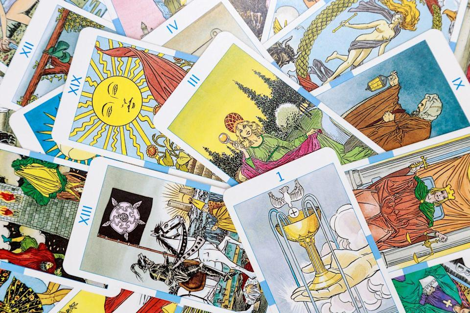 """<p>Light a few candles and see what's in the cards for your future. For a unique experience, hire a professional to do a private Tarot consultation on Zoom. </p><p><a class=""""link rapid-noclick-resp"""" href=""""https://www.amazon.com/dp/0062466593?tag=syn-yahoo-20&ascsubtag=%5Bartid%7C10055.g.33796718%5Bsrc%7Cyahoo-us"""" rel=""""nofollow noopener"""" target=""""_blank"""" data-ylk=""""slk:SHOP TAROT CARDS"""">SHOP TAROT CARDS</a></p>"""