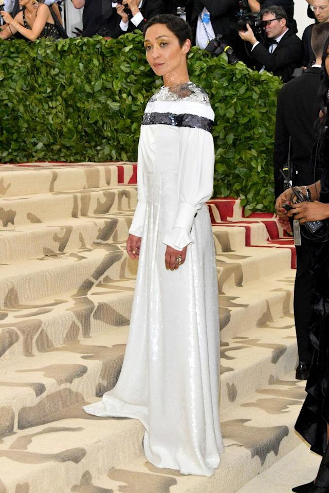 <p>Ruth Negga in Louis Vuitton<em>. </em>(Photo: Getty Images) </p>