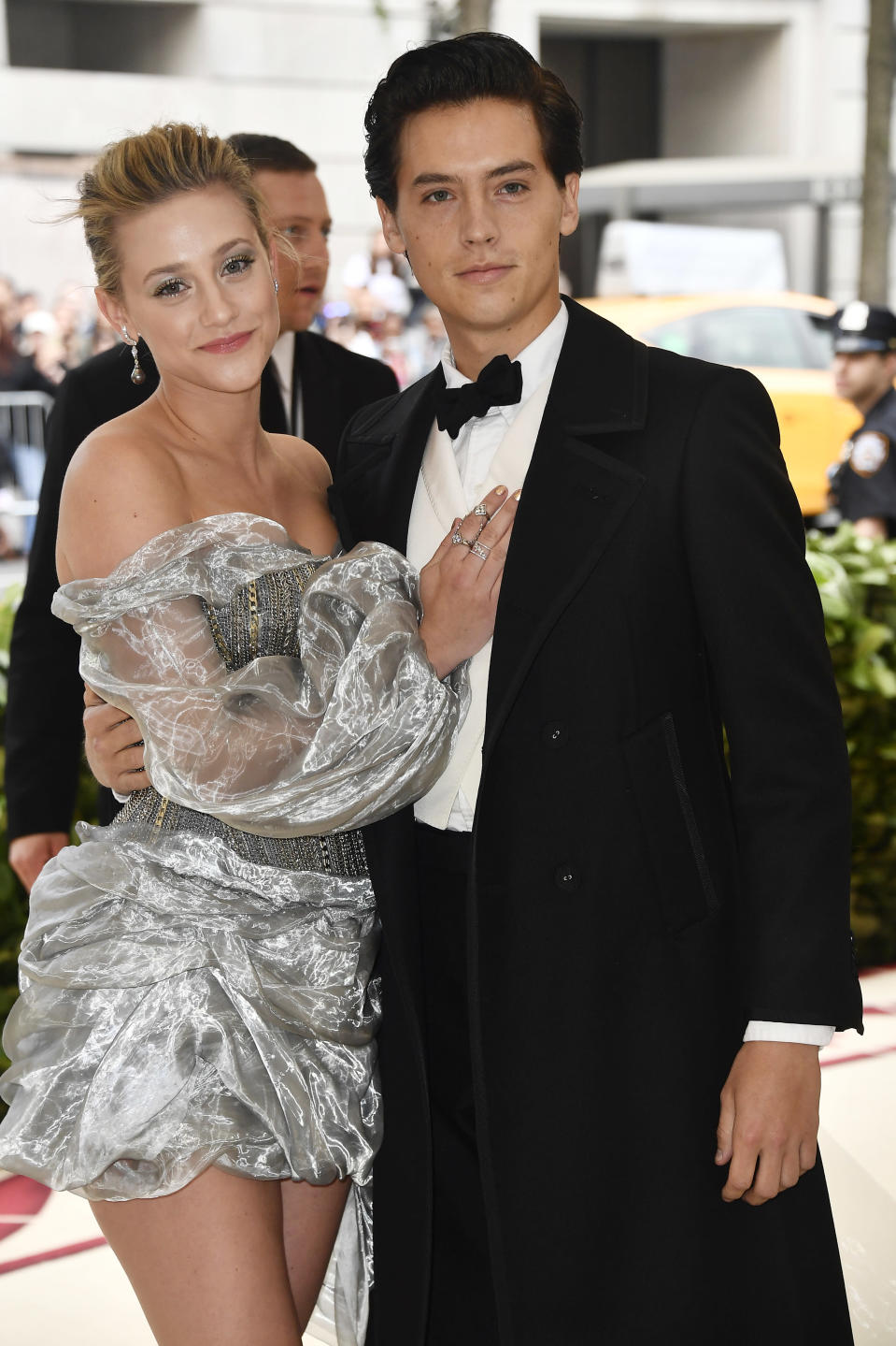 Lili Reinhart and Cole Sprouse at the 2018 Met Gala.<em> (Getty Images)</em>
