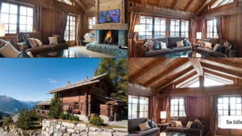 Princess Mary's controversial $14,000-a-week Swiss ski chalet. Photo: Airbnb.