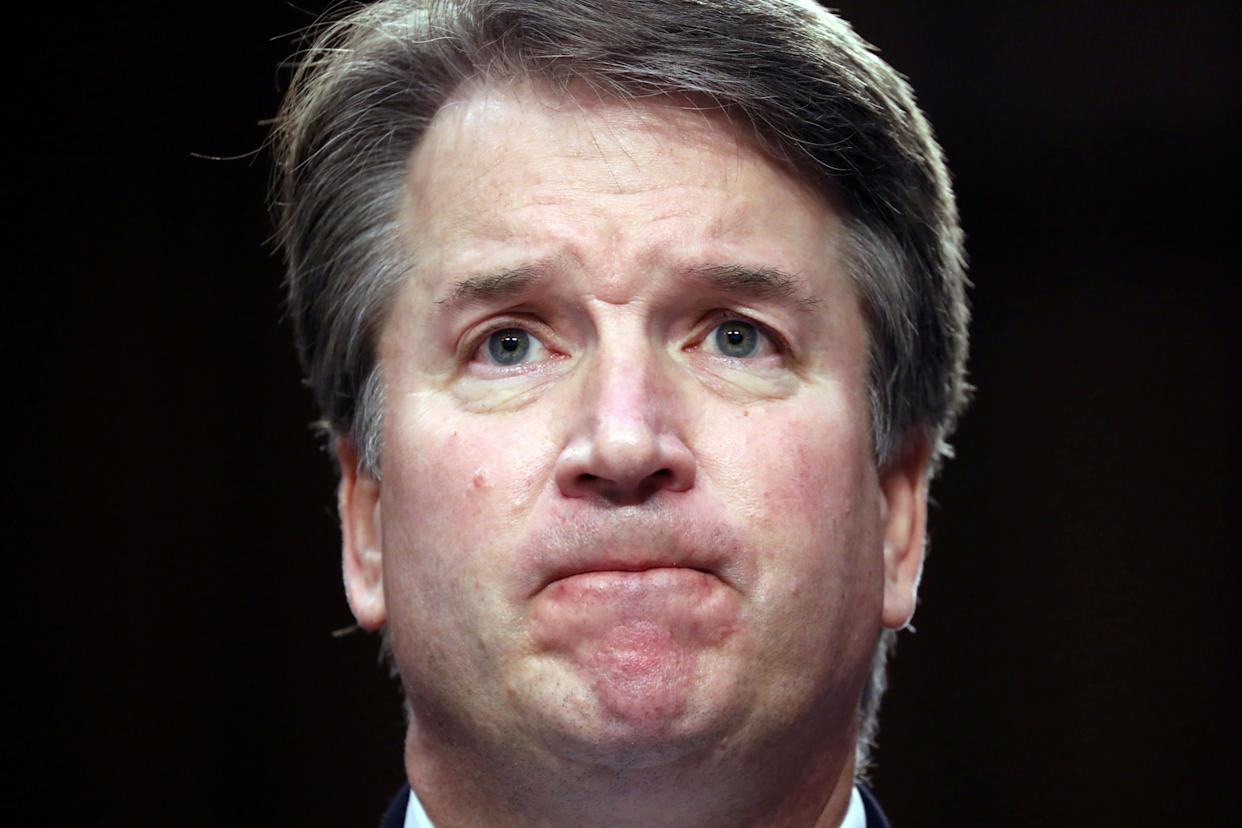 """Students are calling outYale Law School for its """"complicity in and facilitation of federal judges' sexual harassment of and discrimination against their clerks, particularly with regard to Judge Kavanaugh."""" (Photo: Chris Wattie/Reuters)"""
