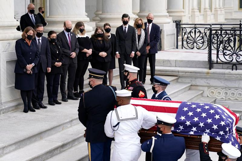 Ginsburg's coffin arrives at the US Capitol