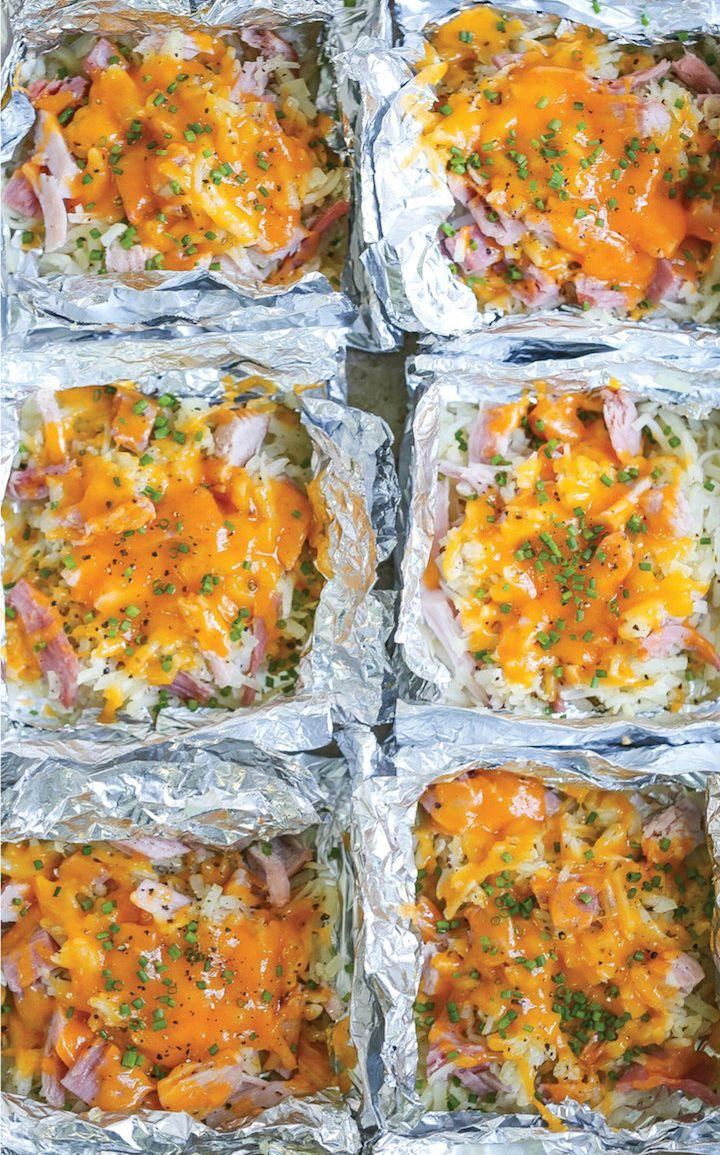 "<strong>Get the <a href=""https://damndelicious.net/2017/10/20/ham-and-cheese-hash-brown-foil-packets/"" target=""_blank"">Ham and Cheese Hash Brown Foil Packets</a> recipe from Damn Delicious.</strong>"