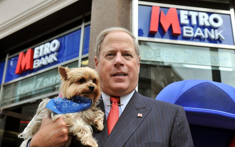 Metro Bank US founder Vernon Hill in 2010 - PA