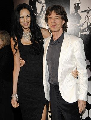 "Premiere: L'Wren Scott and <a href=""/movie/contributor/1800063442"">Mick Jagger</a> at the New York City premiere of Paramount Classics' <a href=""/movie/1809785174/info"">Shine a Light</a> – 03/30/2008<br>Photo: <a href=""http://www.wireimage.com/"">Kevin Mazur, WireImage.com</a>"