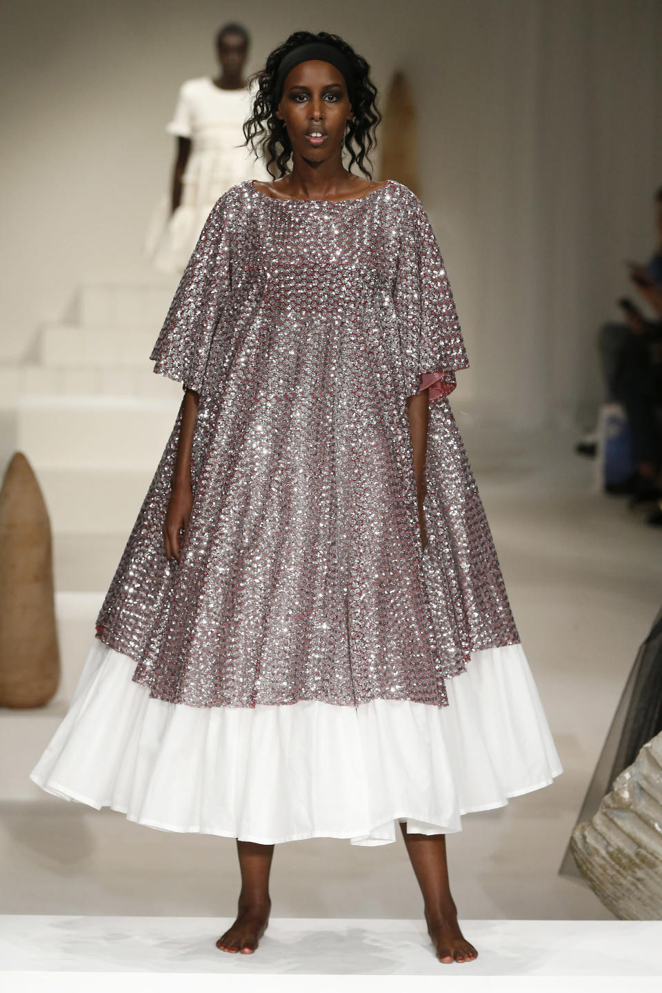 <p>A stunning sequined number, perfect for twirling in. </p>
