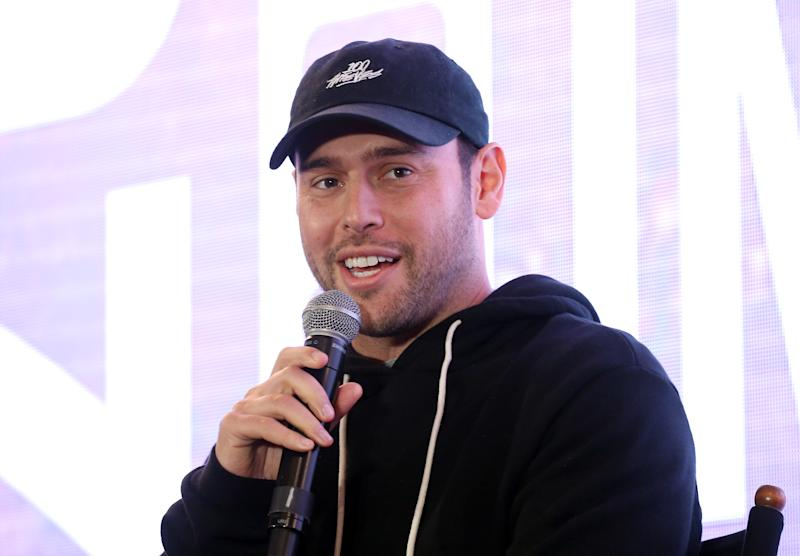 HOLLYWOOD, CALIFORNIA - NOVEMBER 21: Scooter Braun speaks onstage during the Hollywood Chamber of Commerce 2019 State of The Entertainment Industry Conference held at Lowes Hollywood Hotel on November 21, 2019 in Hollywood, California. (Photo by Michael Tran/Getty Images)