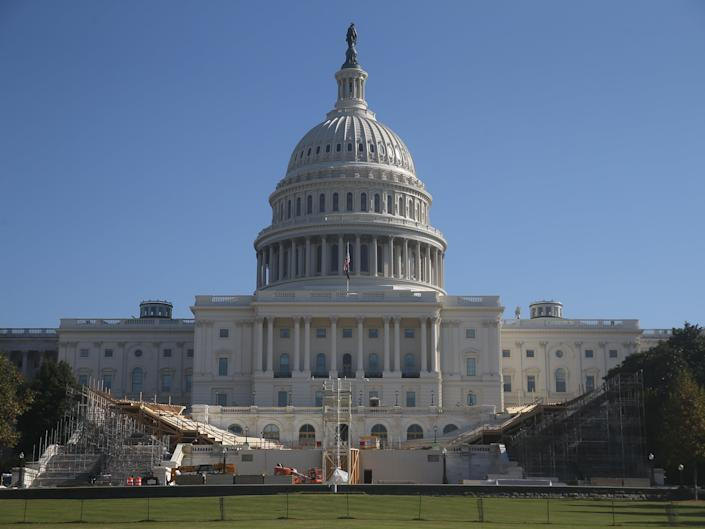 Preparations for the inauguration by the United States Capitol Building are underway (Yegor Aleyev/TASS)