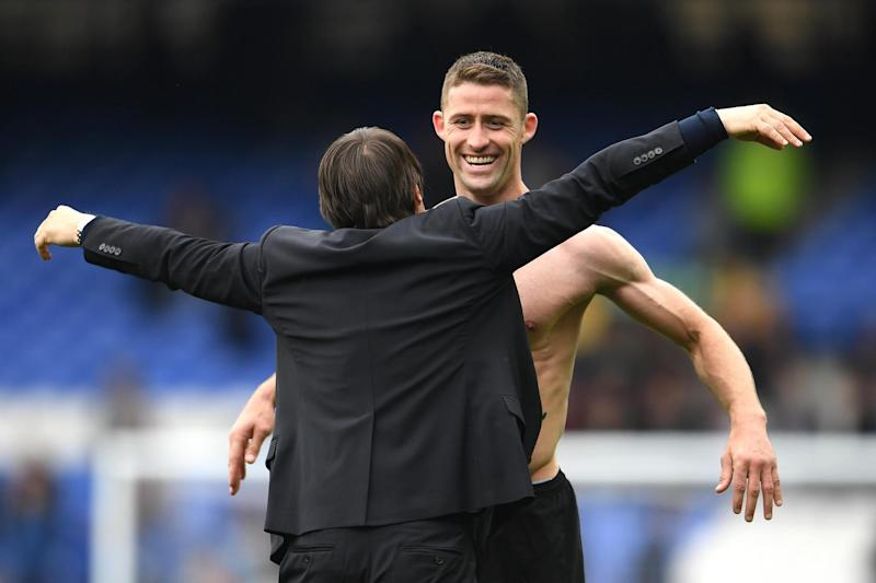 Title glory: Cahill won a second Premier League medal under Conte's guidance: Getty Images