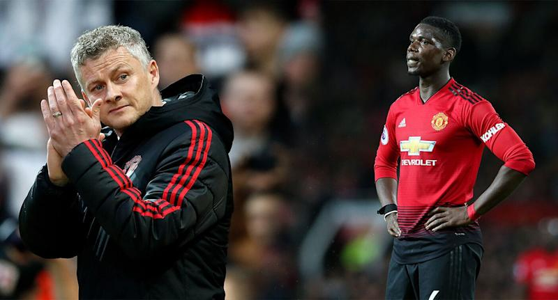 Image result for Ole Gunnar Solskjaer and Pogba