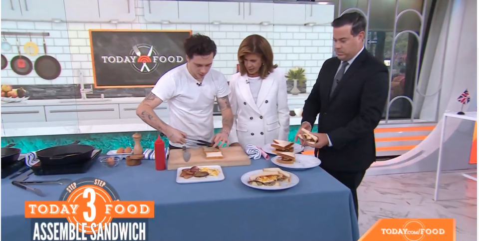 Brooklyn Beckham cooking on the Today show in the US