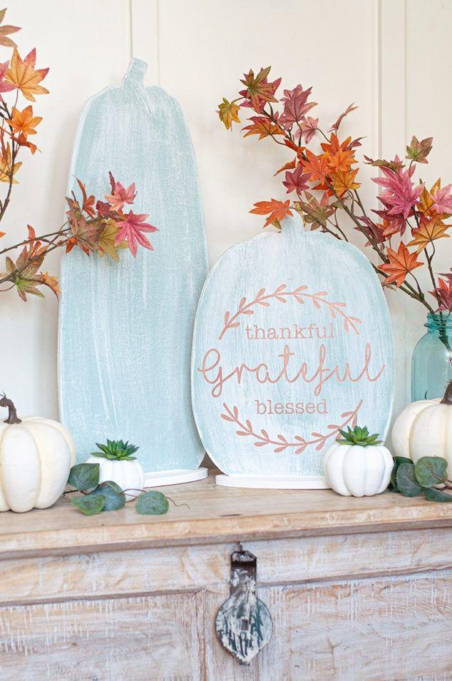 """<p>This is probably one of the most useful crafts you'll ever make. The reason? You can use one side for Thanksgiving and the other is Halloween-themed!</p><p><strong>Get the tutorial at <a href=""""https://www.craftsbycourtney.com/how-to-crafts/thanksgiving-and-halloween-reversible-sign/"""" rel=""""nofollow noopener"""" target=""""_blank"""" data-ylk=""""slk:Crafts by Courtney"""" class=""""link rapid-noclick-resp"""">Crafts by Courtney</a>.</strong></p><p><strong><a class=""""link rapid-noclick-resp"""" href=""""https://www.amazon.com/FolkArt-Décor-Finish-PROMOFAHDC-Colors/dp/B01LYBQUP5/?tag=syn-yahoo-20&ascsubtag=%5Bartid%7C10050.g.2063%5Bsrc%7Cyahoo-us"""" rel=""""nofollow noopener"""" target=""""_blank"""" data-ylk=""""slk:SHOP PAINT"""">SHOP PAINT</a><br></strong></p>"""