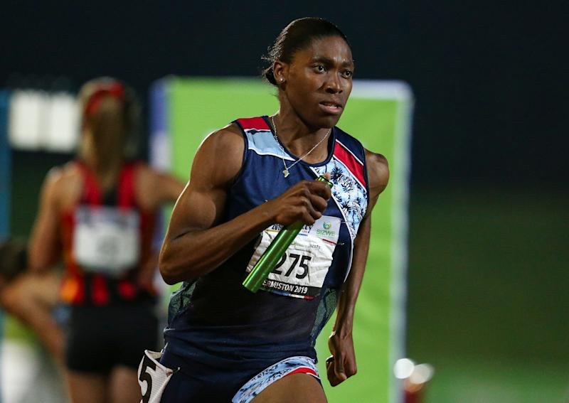 South African athlete Caster Semenya competes in an event in Johannesburg on April 27, 2019. Semenya lost her Court of Arbitration for Sport appeal on Wednesday. (AP)