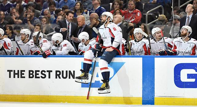 The second you're down 2-0, you need to start putting Ovechkin over the boards more often, not less. . (Getty)