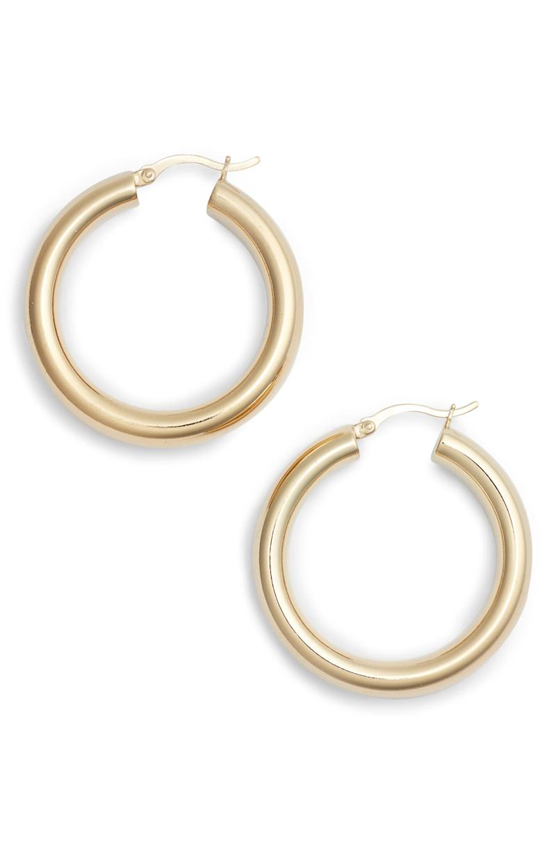 Argento Vivo Small Hoop Earrings. Image via Nordstrom.