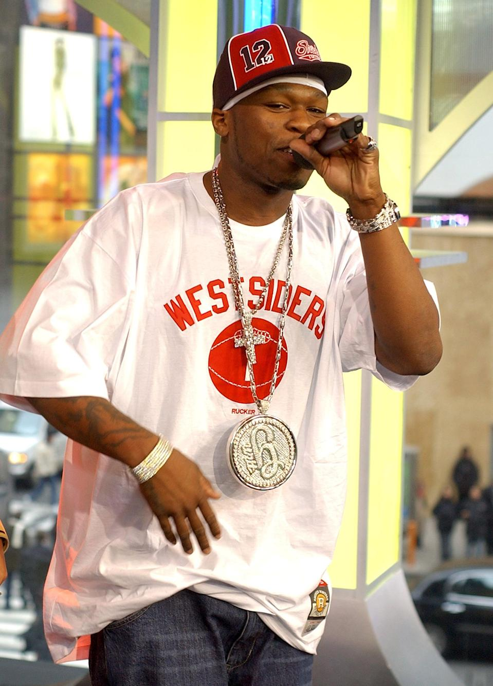 <p>50 Cent performed for an episode of <b>TRL</b> in 2003.</p>