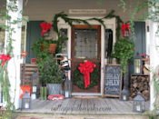 """<p>You know that chalkboard you use to commemorate the first and last days of school for family pics? Dig that thing out of the garage this winter and scrawl on a holiday message for a perfectly charming (and cheap) bit of holiday porch decor.<br></p><p><strong><em>Get the look at <a href=""""https://www.cottageintheoaks.com/christmas-front-porch-2012/"""" rel=""""nofollow noopener"""" target=""""_blank"""" data-ylk=""""slk:Cottage in the Oaks"""" class=""""link rapid-noclick-resp"""">Cottage in the Oaks</a>. </em></strong></p>"""