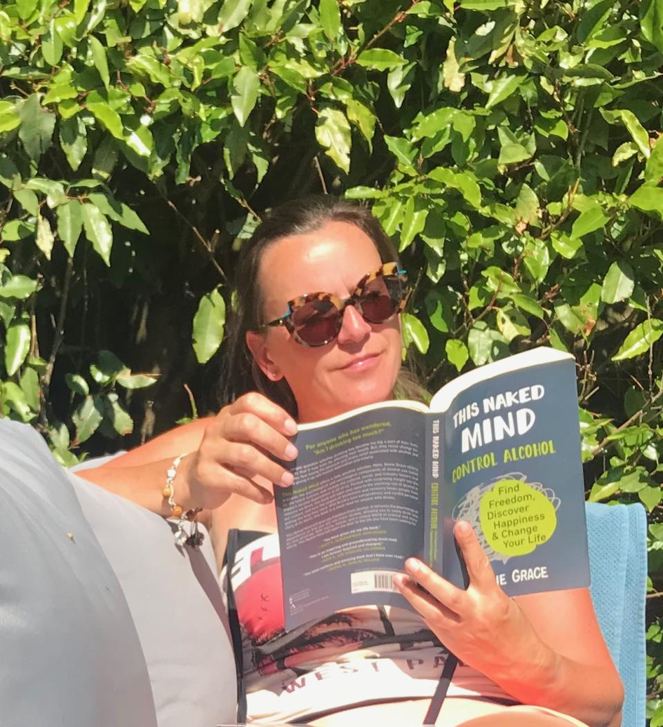 Claire Maskery says reading 'This Naked Mind' and 'The Sober Survival Guide' have helped her (supplied, Claire Maskery)