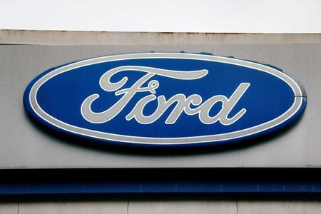 FILE PHOTO: The Ford logo is seen at the Ford oldest Brazil plant after company announced its closure in Sao Bernardo do Campo