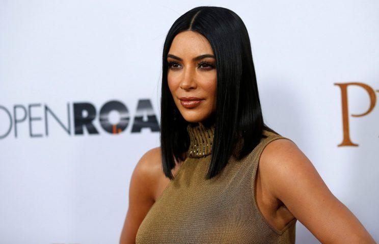 <i>Kim Kardashian looked as sleek as ever at the premiere of The Promise [Photo: Reuters]</i>