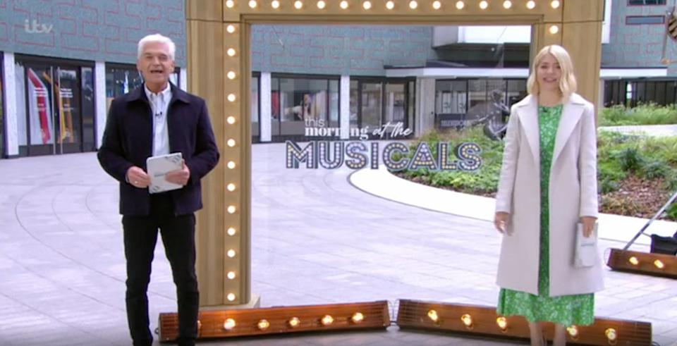 Phillip Schofield and Holly Willoughby presenting This Morning on Monday (Photo: ITV)