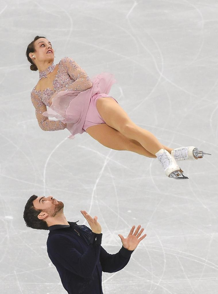 Canada's Meagan Duhamel and Eric Radford are aiming to win a third straight world pairs' title (AFP Photo/Kim Doo-Ho)