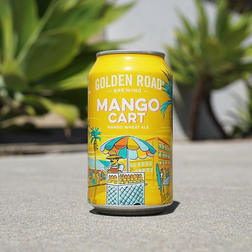 "<p>Brewed in celebration of Los Angeles' fruit cart vendors, this wheat ale from <a href=""https://www.goldenroad.la/beer/mango-cart/"" rel=""nofollow noopener"" target=""_blank"" data-ylk=""slk:Golden Road Brewing"" class=""link rapid-noclick-resp"">Golden Road Brewing</a> serves tastebuds everywhere with fresh mango flavor and aroma. The taste is as light and crisp as the L.A. <a href=""https://www.cosmopolitan.com/lifestyle/a22062493/best-first-cars/"" rel=""nofollow noopener"" target=""_blank"" data-ylk=""slk:traffic"" class=""link rapid-noclick-resp"">traffic</a> is, um, not.</p>"
