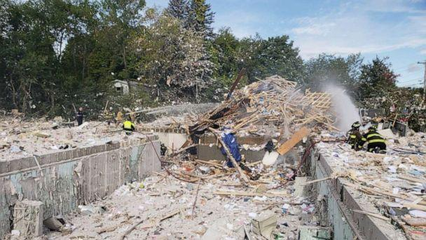 PHOTO: First responders at the scene of an explosion in Farmington, Maine, Sept. 16, 2019. (Scott Landry)