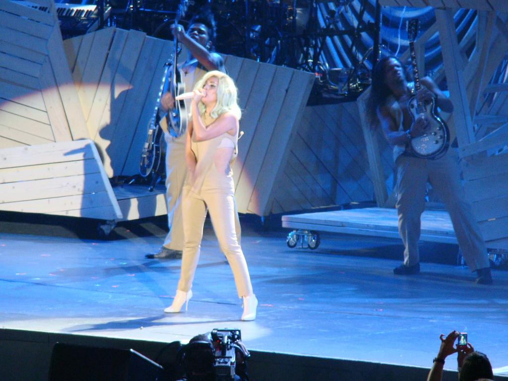 "Lady Gaga performs at ""A Decade of Difference""  concert on October 15, 2011 at the Hollywood Bowl, Los Angeles.<br><br>(Photo credit: © 2011 <a target=""_blank"" href=""http://www.flickr.com/photos/23384148@N07"">GW1982</a> in Flickr)"