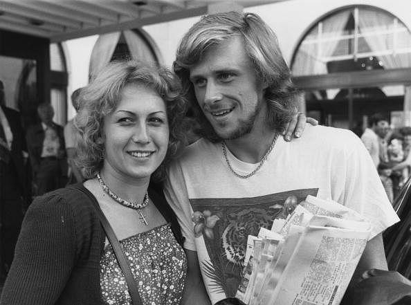 Bjorn Borg with the Romanian tennis player Mariana Simionescu